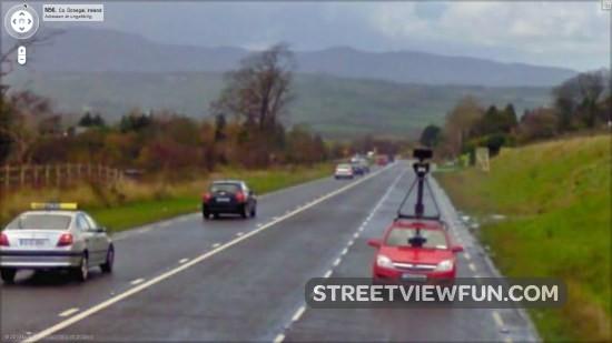 how to follow a car on google earth