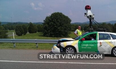 Street View Car In Accident What Happened Streetviewfun