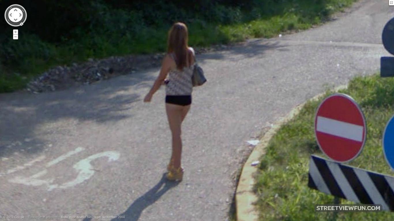 Streetviewfun Italian Hitchhiker