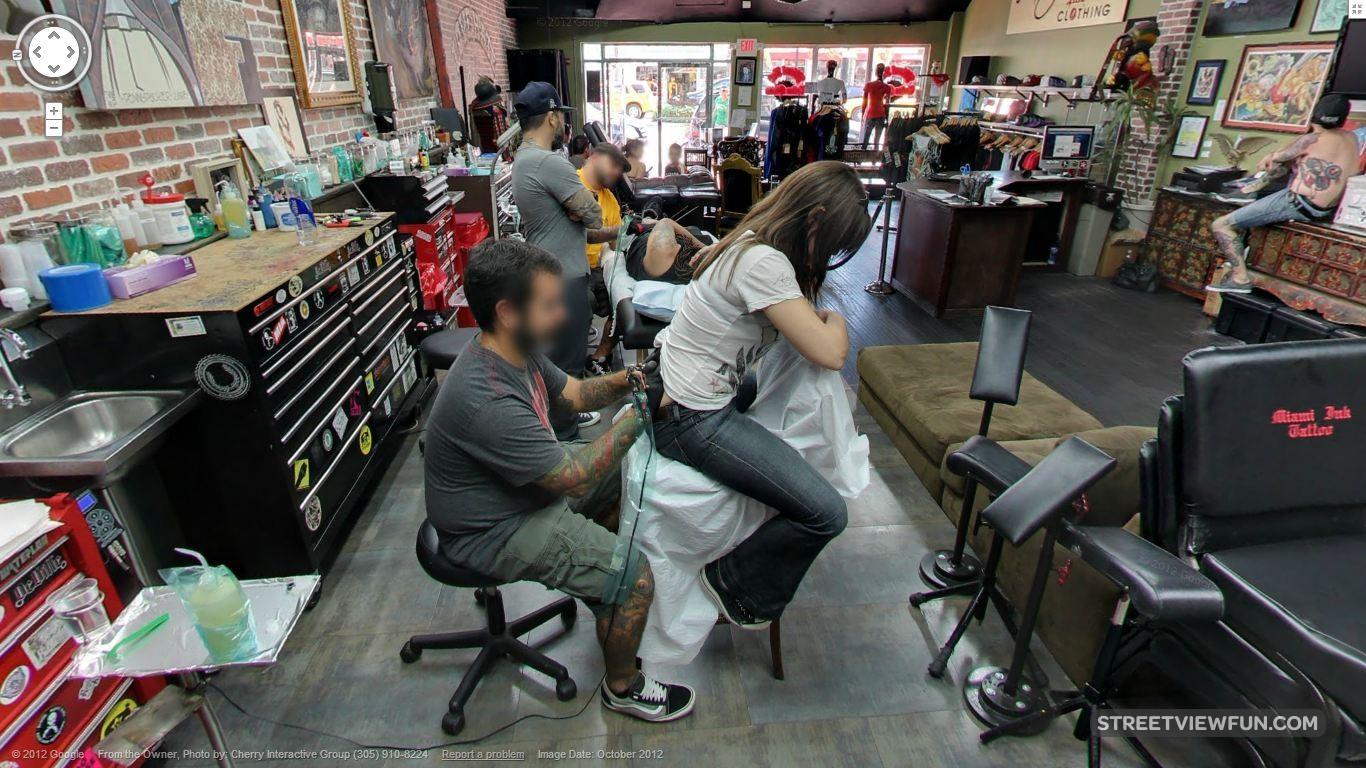 Streetviewfun inside miami ink s love hate tattoo shop for Great falls tattoo shops