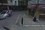 Crime scene on Google Street View