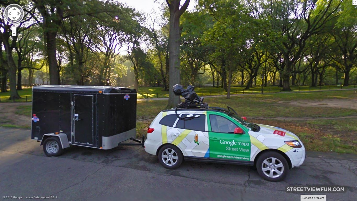 streetviewfun google car in central park new york. Black Bedroom Furniture Sets. Home Design Ideas