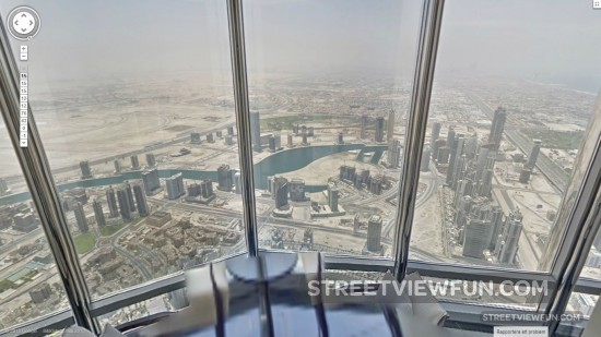Streetviewfun some skyscrapers are bigger than others for Burj khalifa swimming pool 76th floor