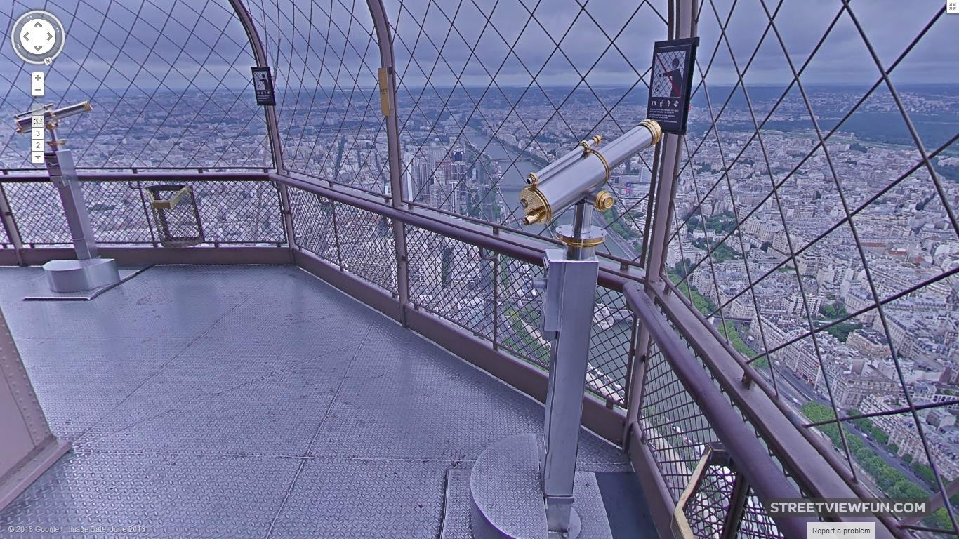 Streetviewfun stunning view from eiffel tower now on for Floors of the eiffel tower