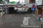 Streetview driver hits pole?