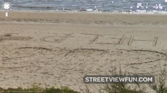 Beach message