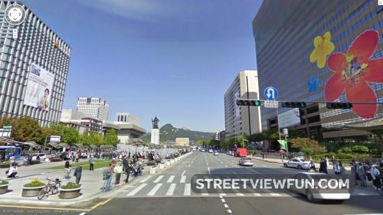Street map Seoul South Korea