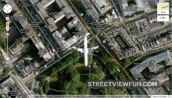 Airplane Caught On Google Maps Satellite Images Streetviewfun