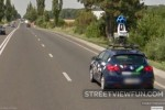 Lot's of stickers on romanian Google Street View car