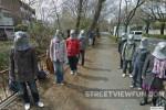 Creepy Pigeonheads watching Google Street View in Japan