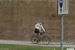Headless bicyclist on Google Street View