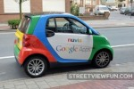 Tiny Google car in Belgium