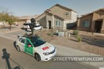 Street View car parked in Arizona neighborhood