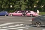 Pink limousine in Saint Petersburg