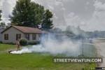 Burning the lawn