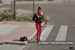 Girl flashing Google Street View
