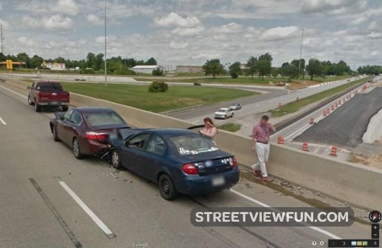Car accident in Owensboro, Kentucky - StreetViewFun