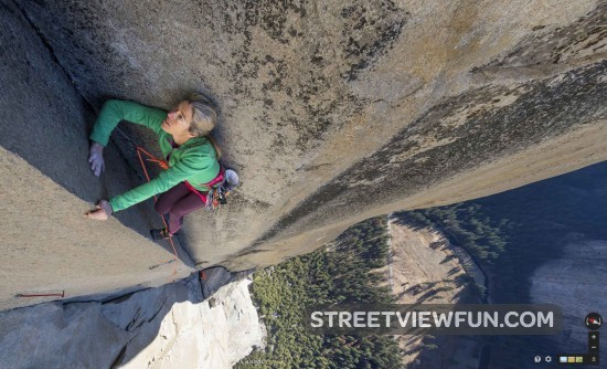 Climbing Up El Capitan At Yosemite On Google Street View