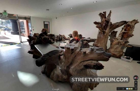 streetviewfun | an amazing desk at los angeles google office