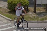Someone's not happy with Google Streetview