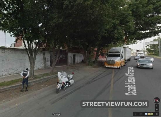 police-stop-truck-street-view