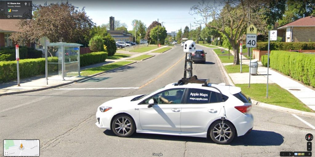 Apple Maps Car Spotted On Google Maps Street View Streetviewfun