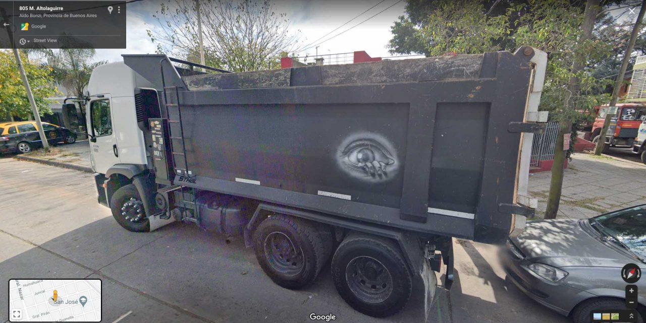 art on truck