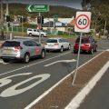 60 road sign broken