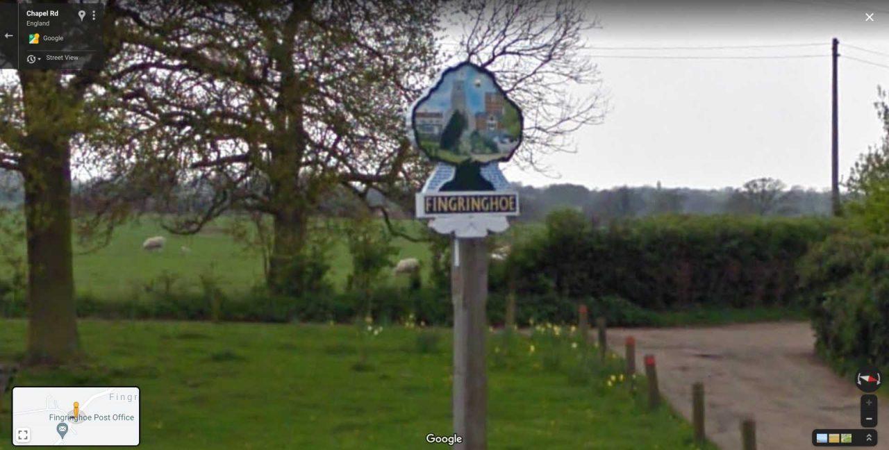 road sign fingringhoe